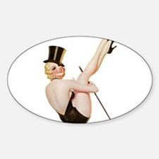 Blonde Entertainer Magician Pin Up Girl Decal