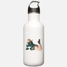 Blonde Scottish Pin Up Girl Water Bottle