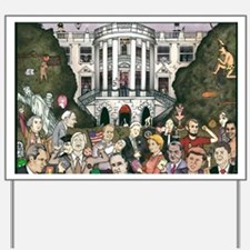 Us presidents at the white house Yard Sign