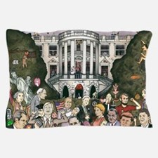 Us presidents at the white house Pillow Case