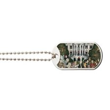 Us presidents at the white house Dog Tags