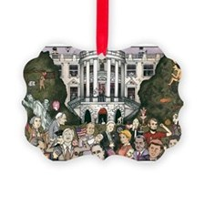Us presidents at the white house Ornament