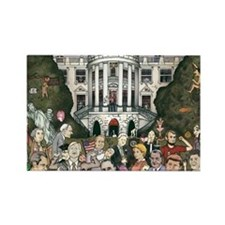 Us presidents at the white house Rectangle Magnet