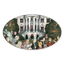 Us presidents at the white house Decal
