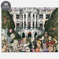 Us presidents at the white house Puzzle