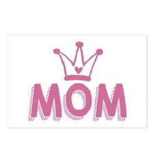 Mom deserves a crown Postcards (Package of 8)