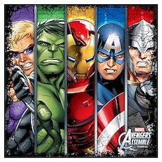 Avengers Stripes Wall Art Poster