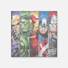 "Avengers Stripes Square Sticker 3"" x 3"""