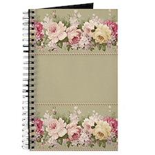 Vintage Floral Arrangements Pattern Border Journal
