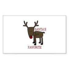 Santas Favorite Decal