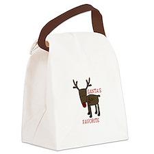 Santas Favorite Canvas Lunch Bag