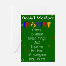 Social Worker Quotes Greeting Cards