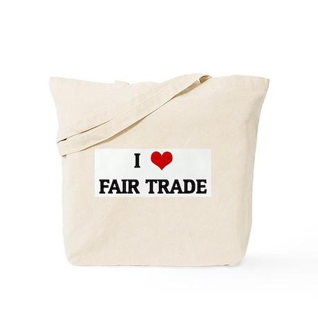 I Love FAIR TRADE Tote Bag