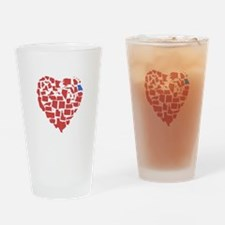 Georgia Heart Drinking Glass