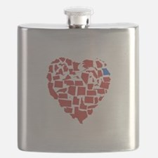 Georgia Heart Flask