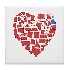 Georgia Heart Tile Coaster