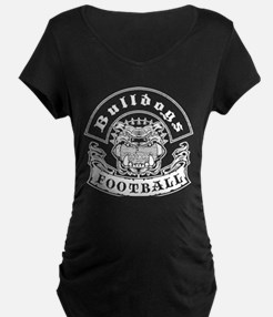 Bulldogs Football Maternity T-Shirt