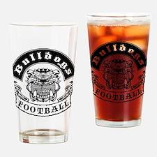 Bulldogs Football2 Drinking Glass