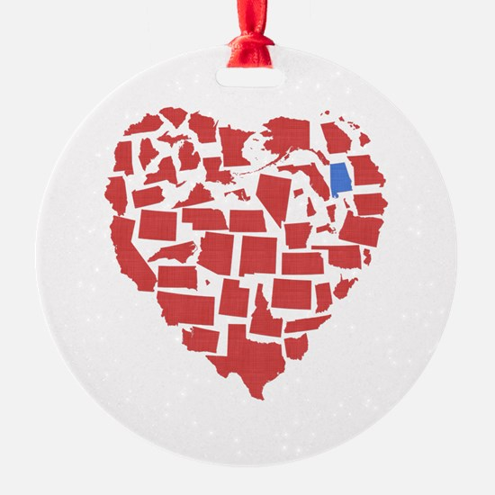 Alabama Heart Ornament