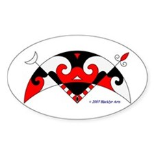 Pictish Crescent Oval Decal