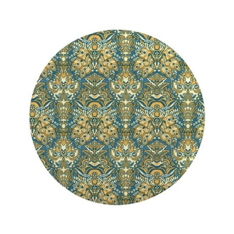Blue Green Bohemian Vintage Ornamental Pattern 3.5
