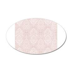 Baby Pink Floral Damask Ornamental Pattern Wall De