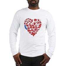 California Heart Long Sleeve T-Shirt
