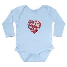 California Heart Long Sleeve Infant Bodysuit