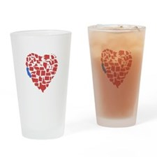 California Heart Drinking Glass