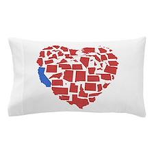 California Heart Pillow Case