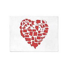Connecticut Heart 5'x7'Area Rug