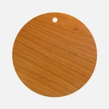 Wood Surface Round Ornament