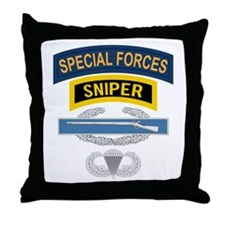SF Sniper CIB Airborne Throw Pillow