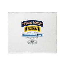 SF Sniper CIB Airborne Throw Blanket