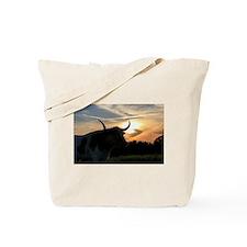 Longhorn Sunset Tote Bag