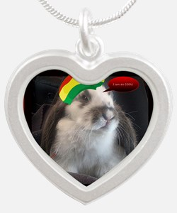 Reggae Rabbit image Silver Heart Necklace