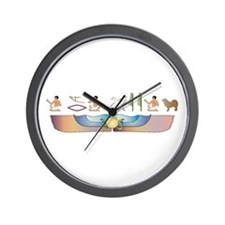 Mastiff Hieroglyphs Wall Clock