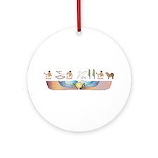 Mastiff Hieroglyphs Ornament (Round)