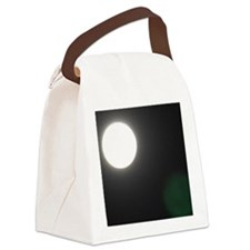 Moon at Night Canvas Lunch Bag
