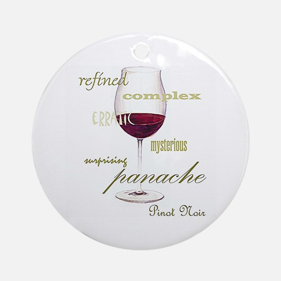 Pinot Noir Wine Ornament (Round)