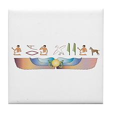 Ridgeback Hieroglyphs Tile Coaster