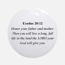 Mother's Day Bible Verse Exod Ornament (Round)