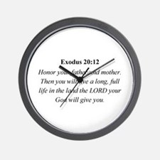 Mother's Day Bible Verse Exod Wall Clock