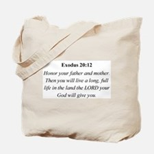 Mother's Day Bible Verse Exod Tote Bag