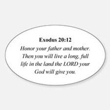 Mother's Day Bible Verse Exod Oval Decal