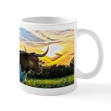 Illuminated Longhorn Sunset Mugs