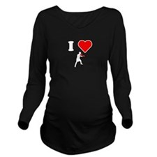 I Heart Boxing Long Sleeve Maternity T-Shirt