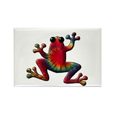 Tie Dye Frog Rectangle Magnet