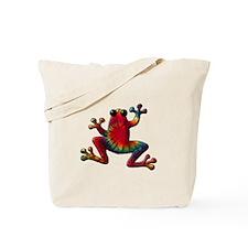 Tie Dye Frog Tote Bag