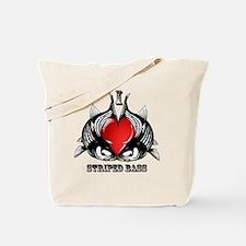 I Love Striped Bass Tote Bag